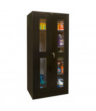 "Hallowell 800 Series 78"" H Safety-View Combination Storage Cabinets (Shown in Black)"