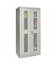 "Hallowell 800 Series 78"" H Antimicrobial Ventilated Combination Storage Cabinets, Platinum Grey"