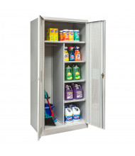 "Hallowell 800 Series 78"" H Antimicrobial Ventilated Combination Storage Cabinets, Light Grey"