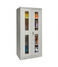 "Hallowell 800 Series 78"" H Antimicrobial Safety-View Combination Storage Cabinets, Platinum Grey"