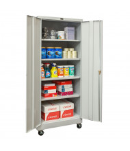 "Hallowell 800 Series 24"" D x 78"" H Antimicrobial Mobile Storage Cabinets, Light Grey"