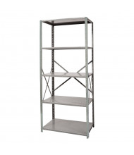 "Hallowell 5-Shelf 87"" H Hi-Tech Medium-Duty Open-Back Shelving Unit, Dark Grey"