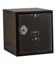 "Hallowell Cubix Safety-View Plus Pull Handle Modular Box Locker, Unassembled 12"" (Shown in Black in Key Lock)"