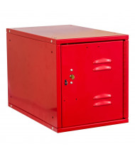 "Hallowell Cubix Louvered Key Lock Modular Box Locker, Unassembled 12"" W x 18"" D x 12"" H, Relay Red"