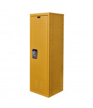 "Hallowell Teen Locker, Unassembled 15"" W x 15"" D x 48"" H (Shown in Yellow)"