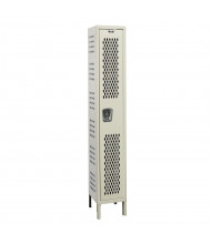 "Hallowell Single Tier Heavy-Duty Ventilated Lockers 78"" H (Shown in Tan)"
