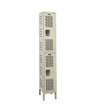 "Hallowell Double Tier Heavy-Duty Ventilated Lockers 78"" H (Shown in Tan)"