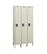 Hallowell Single Tier 3-Wide Premium Lockers (Shown in Tan)