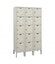 "Hallowell 5-Tier 3-Wide Premium Box Lockers 36"" W x 66"" H (Shown in Tan)"