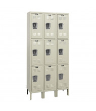 "Hallowell Triple Tier 3-Wide Premium Lockers 78"" H (Shown in Tan)"