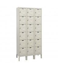 "Hallowell 6-Tier 3-Wide Premium Lockers 36"" W x 78"" H (Shown in Tan)"