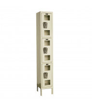 Hallowell Triple Tier Safety-View Lockers, Tan
