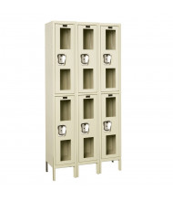 Hallowell Double Tier 3-Wide Safety-View Lockers