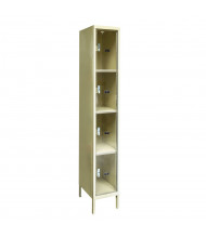 Hallowell 4-Tier Safety-View Plus Box Lockers (Shown in Tan)