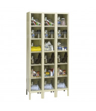 Hallowell 6-Tier 3-Wide Safety-View Plus Box Lockers