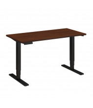 "Bush 48"" W x 24"" D Electric Height Adjustable Standing Desk (Shown in Hansen Cherry / Black)"