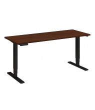 "Bush 60"" W x 30"" D Electric Height Adjustable Standing Desk (Shown in Hansen Cherry / Black)"