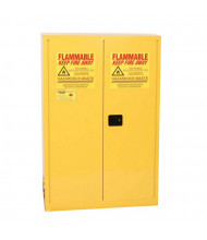 Eagle HAZ9010 Self Close Two Door 2-30 Gal. Vertical Drums Hazardous Material Safety Cabinet, 60 Gallons, Yellow
