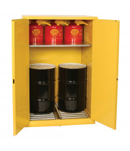 Eagle Hazardous Material Drum Storage Cabinet, Two 30 Gal Drums