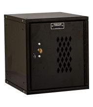 "Hallowell Cubix Ventilated Modular Box Locker, Unassembled 12"" (Shown in Black with Key Lock)"