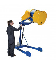 "Vestil HDC-305 800 lb Load 60"" to 98"" H Lift Carrier/Rotator Drum Handlers (Hydraulic Foot Pump Model Shown)"