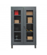 Durham Steel 12 Gauge Clearview Cabinets with Lexan Doors (4-shelf model)
