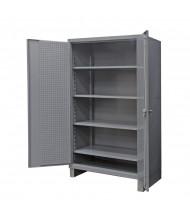 Durham Steel 4-Shelf 12 Gauge Cabinets with Pegboard Doors