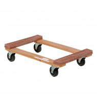 "Vestil HDOR-1830-12 Hardwood 1200 lb. 18"" x 30"" Rubber End Dolly"