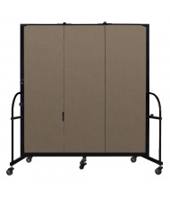 "Screenflex Freestanding 72"" H Heavy Duty Mobile Configurable Fabric Room Dividers (Shown in Walnut)"