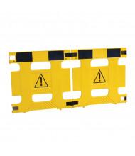 "Vestil 37"" W x 36"" H 2-Panel Multi-Purpose Plastic Barricade, HG-2F"