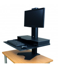 RightAngle Hover Helium Heavy Duty Single Monitor Desk Mount Sit Stand Workstation