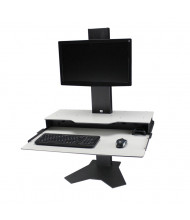 RightAngle Hover Helium Single Monitor Desk Mount Sit Stand Workstation