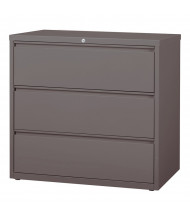 """Mayline 3-Drawer 42"""" Wide Lateral File Cabinet, Letter & Legal (Shown in Medium Tone)"""