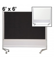 Best-Rite Dura-Rite Laminate/Hook & Loop 6 x 6 D.O.C. Mobile Divider Reversible (Both Sides Shown)