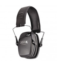 Leightning L3 Noise-Blocking Folding Earmuffs, 23NRR, Black/Gray