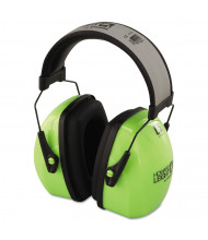 Howard Leight by Honeywell L3HV Hi-Visibility Earmuffs, Reflective Headband, 30NRR, Green/Black