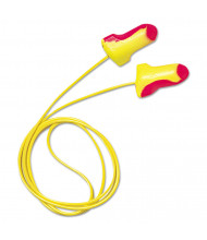 Howard Leight by Honeywell LL-30 Laser Lite Single-Use Earplugs, Corded, 32NRR, Magenta/Yellow, 100/Pairs