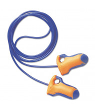Howard Leight by Honeywell LT-30 Laser Trak Single-Use Earplugs, Corded, 32NRR, Orange/Blue, 100/Pairs
