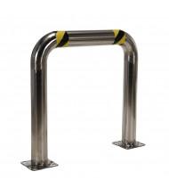 "Vestil 4.5"" High Profile 36"" L x 36"" H Stainless Steel Rack Guard HPRO-SS-36-36-4"