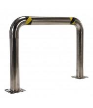 "Vestil 4.5"" High Profile 48"" L x 36"" H Stainless Steel Rack Guard HPRO-SS-48-36-4"