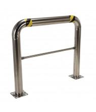 "Vestil 4.5"" High Profile 48"" L x 42"" H Stainless Steel Rack Guard HPRO-SS-48-42-4"