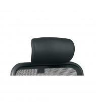 Office Star SPACE Black Leather Headrest