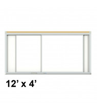 Ghent HSM2-412 Duo Track 12 ft. x 4 ft. Centurion Horizontal Porcelain Sliding Whiteboard