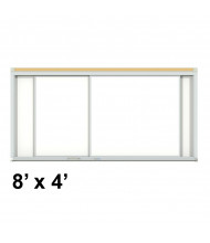 Ghent HSM2-48 Duo Track 8 ft. x 4 ft. Centurion Horizontal Porcelain Sliding Whiteboard