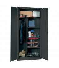 "Hallowell DuraTough Classic Series 24"" D x 78"" H Heavy-Duty Combination Storage Cabinets, Assembled, Charcoal"