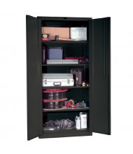 Hallowell DuraTough Classic Series Heavy-Duty Storage Cabinets, Assembled, Charcoal (Four Shelf Model)