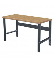 Hallowell Laminate Hardwood Top Height Adjustable Workbench