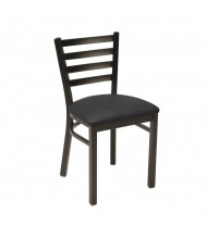 KFI Seating IM3316-SB Vinyl Mid-Back Steel Cafe Chair (Black)