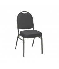 "KFI Seating IM520 Fabric 2"" Padded Seat Stacking Chair (Black / Black)"