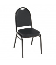 "KFI Seating IM520 Vinyl 2"" Padded Seat Stacking Chair (Black / Black)"